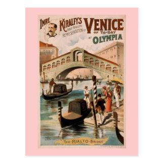"""Het Vintage Theater van """"Venetië van Vandaag"""" Briefkaart"""