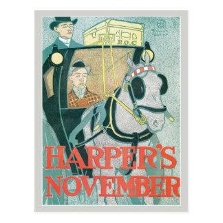 Het vintage tijdschrift November van Briefkaart