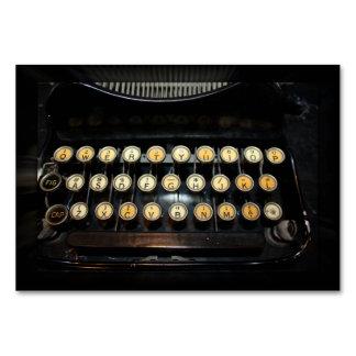 Het vintage Toetsenbord van de Schrijfmachine Kaart