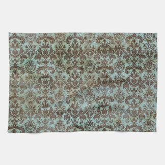 Het vintage Turkooise Blauwe Bruine Patroon van Theedoek