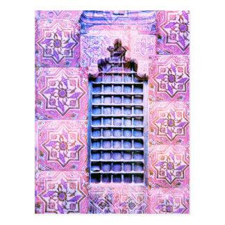 Het vintage Venster Roze Oranate Elegante Boho van Briefkaart