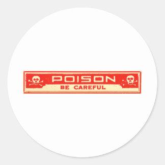 Het vintage Vergift is Zorgvuldig Etiket