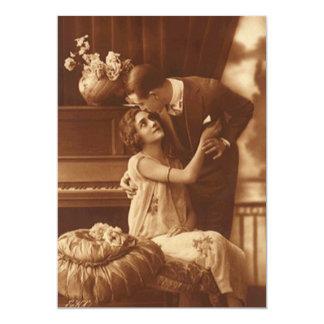 Het vintage Verloving van het Jubileum van het 12,7x17,8 Uitnodiging Kaart