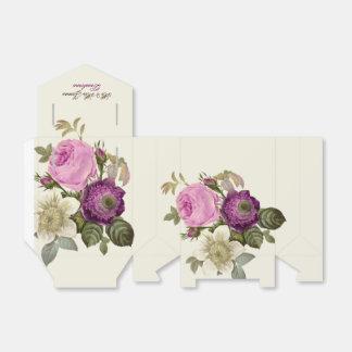 Het vintage Victoriaans Botanische Roze Ivoor van Bedank Doosjes Huwelijk
