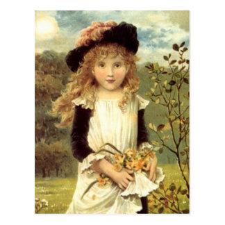 Het vintage Victoriaans Meisje van de Collector Briefkaart