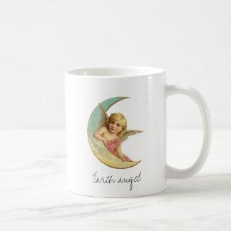 Het vintage Victoriaans Meisje van de Maan van de Koffiemok