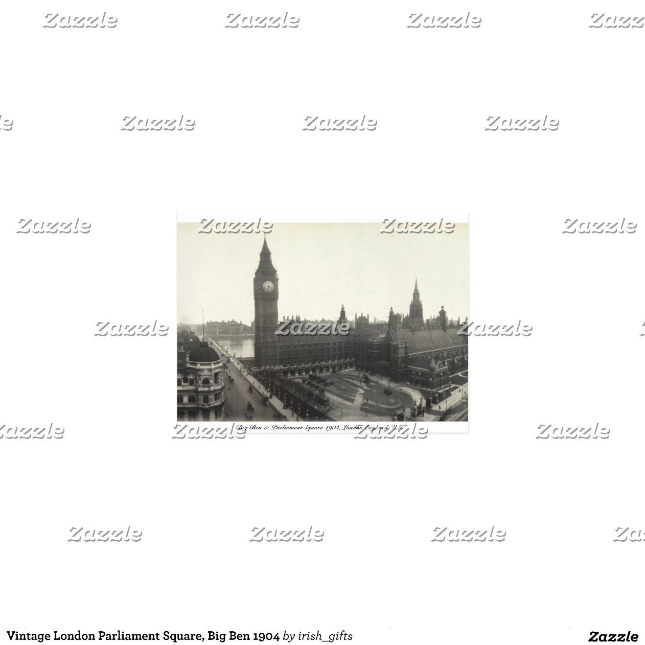 Het vintage vierkant van het parlement van londen briefkaart zazzle - Het upgraden van m ...