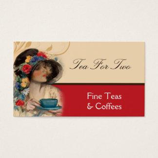 Het vintage Visitekaartje van de Thee of van de Visitekaartjes