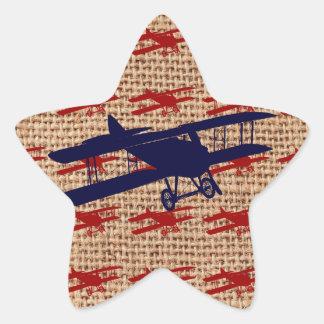 Het vintage Vliegtuig van de Propeller van de Ster Stickers