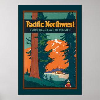 Het vintage Vreedzame Poster van het Noordwesten