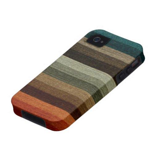 Het vintage Warme Gestreepte Patroon van de Herfst iPhone 4 Hoesjes