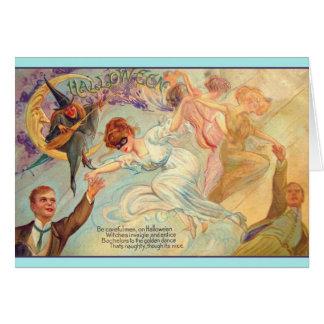 Het vintage Wenskaart van de Dans van de Vrijgezel