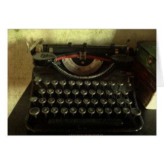 Het vintage Wenskaart van de Schrijfmachine
