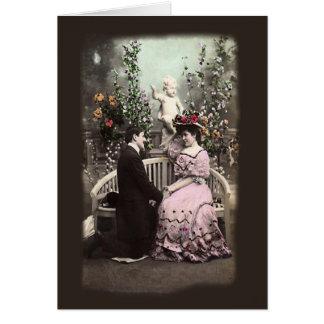 Het vintage Wenskaart van de Valentijnskaarten van