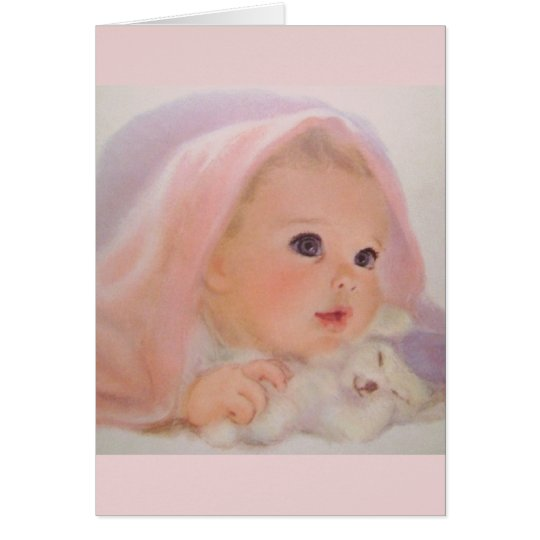 Het vintage Wenskaart van het Baby