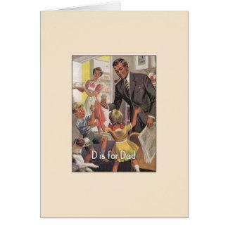 Het vintage Wenskaart van het Vaderdag