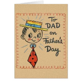 Het vintage Wenskaart van het Vaderdag voor Papa