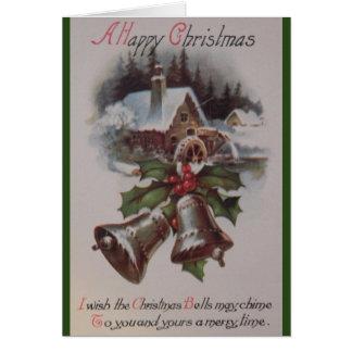 Het vintage Wenskaart van Kerstmis