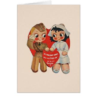 Het vintage Wenskaart van Valentijn van de