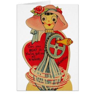 Het vintage Wenskaart van Valentijn van de Klopper