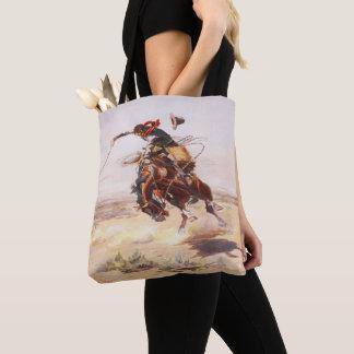 Het vintage Westerne Wild paard van de Ruiter van Draagtas