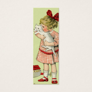 Het vintage Zoete Label van de Gift van het Meisje Mini Visitekaartjes