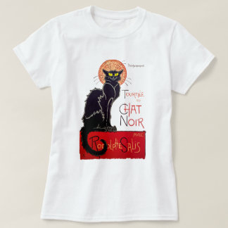 Het vintage Zwarte Cat Tournee Du Chat Noir Art. T Shirt