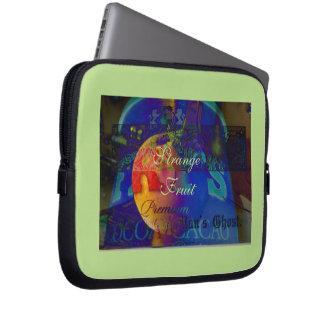 Het vintage Zwarte Ontwerp van het Fruit van de Computer Sleeve