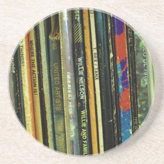 Het vinyl Leven 1 Zandsteen Onderzetter