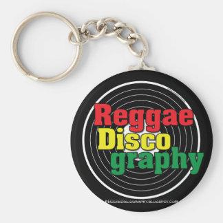 Het Vinyl van de Discografie van Reggae Sleutelhanger