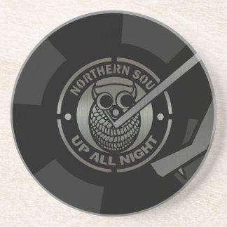 Het vinyl van NorthernSoul op draaischijf Zandsteen Onderzetter
