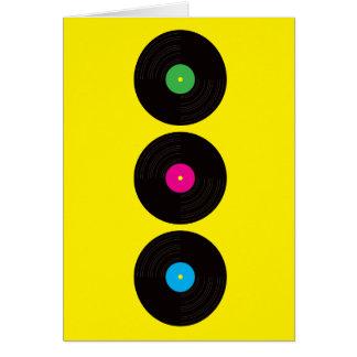 Het vinyl Wenskaart van Verslagen