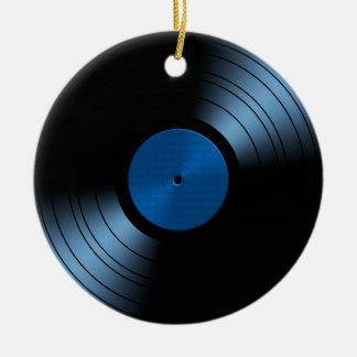 Het vinyl zeer Retro Album van het Verslag - Rond Keramisch Ornament