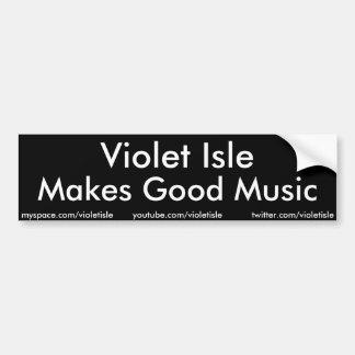 Het violette Eiland maakt de Goede sticker van de