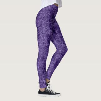 Het Violette Olieverfschilderij van de gentiaan Leggings