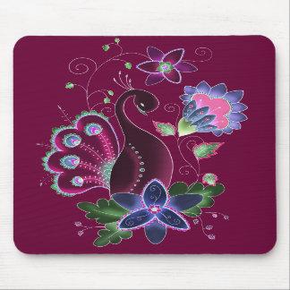 Het violette Stootkussen van de Muis van de Pauw Muismat