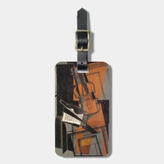 Het viool~ 1916 ~ Synthetische Kubisme ~ Juan Gris Bagagelabel