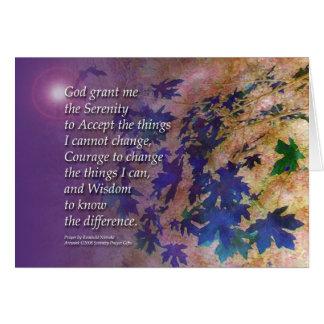 Het Viooltje van het Gebed van de sereniteit Briefkaarten 0