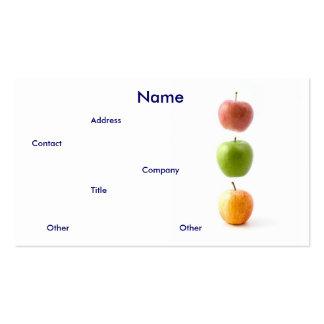 Het Visitekaartje van appelen