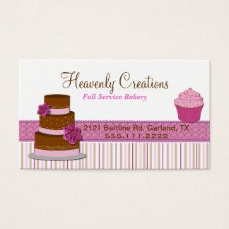 Het Visitekaartje van Cupcake van de bakkerij Visitekaartjes
