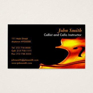Het Visitekaartje van de cellist Visitekaartjes