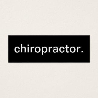 Het Visitekaartje van de chiropracticus Mini Visitekaartjes