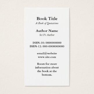 Het Visitekaartje van de Dekking van het boek Visitekaartjes