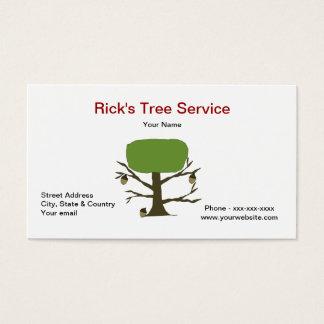 Het Visitekaartje van de Dienst van de boom Visitekaartjes