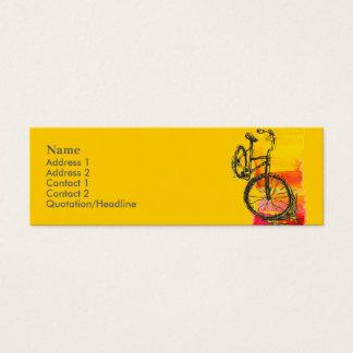 Het Visitekaartje van de Fiets van Minicard Mini Visitekaartjes