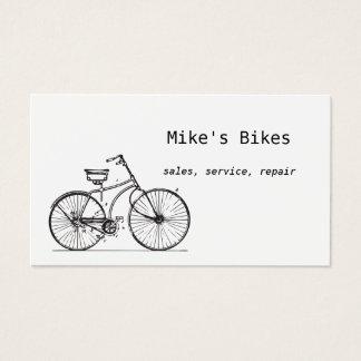 Het visitekaartje van de fiets visitekaartjes