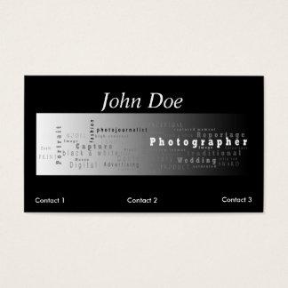 Het Visitekaartje van de fotografie - witte streep Visitekaartjes
