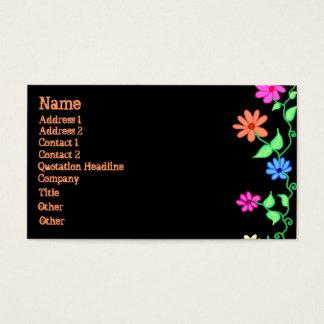 Het Visitekaartje van de Grens van de bloem Visitekaartjes