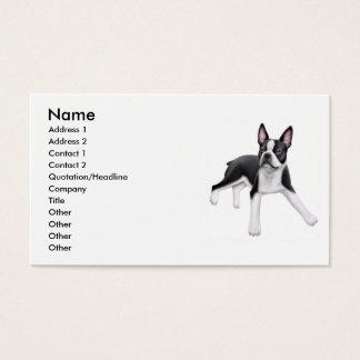 Het Visitekaartje van de Hond van Boston Terrier Visitekaartjes