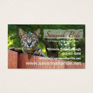 Het Visitekaartje van de Kat van de savanne Visitekaartjes